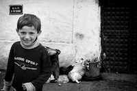 Albanian boy on the outskirts of Pristina