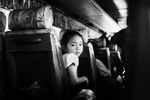 girl in the bus
