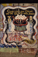 The Berlin Wall : The eternal flame; beat that drum baby